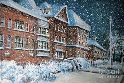 Painting - Old Waltham High School by Rita Brown