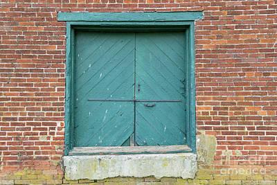 Old Warehouse Loading Door And Brick Wall Art Print