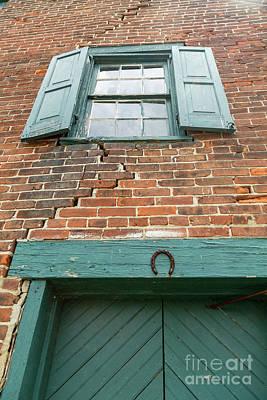 Old Warehouse Window And Lucky Door Art Print