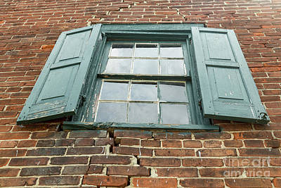 Photograph - Old Warehouse Window by George Sheldon