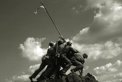 Photograph - Old Washington Photo - Iwo Jima War Memorial by Peter Potter