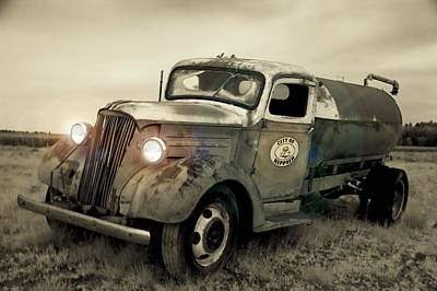 Old Water Truck Art Print