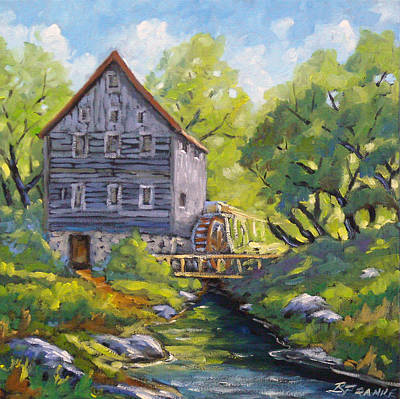 Trees Painting - Old Watermill by Richard T Pranke