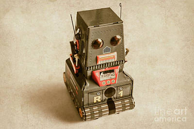 Old Weathered Ai Bot Art Print