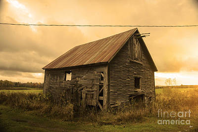 Photograph - Old Weathered Barn by Alana Ranney