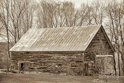 Photograph - Old Weathered Barn II by Alana Ranney