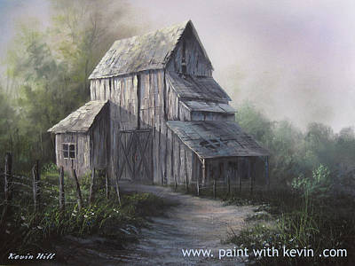 Kevin Hill Painting - Old Weathered Barn by Kevin Hill