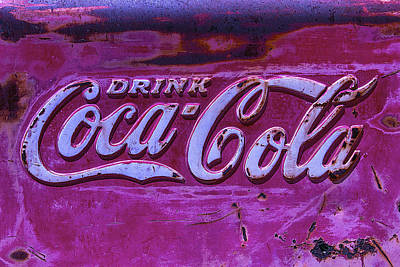 Old Weathered Coke Sign Print by Garry Gay