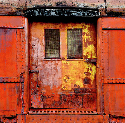 Photograph - Old Weathered Rr Door by Paul W Faust - Impressions of Light