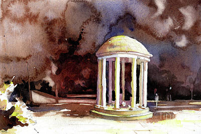 Painting - Old Well On University Of North Carolina  by Ryan Fox