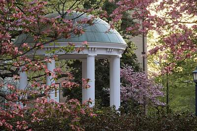 Unc Chapel Hill Photograph - Old Well With Dogwoods by Matt Plyler