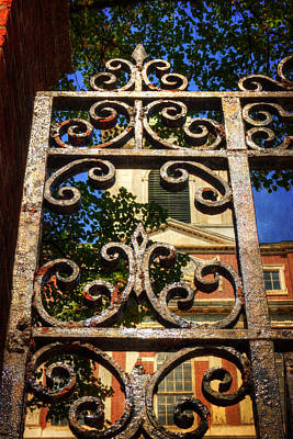 Photograph - Old West Church Iron Gate - Boston by Joann Vitali