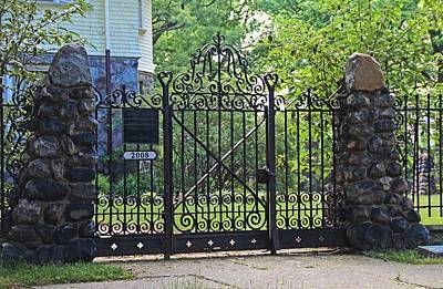 Photograph - Old West End Edward D Libbey House's Gate I by Michiale Schneider