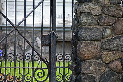 Photograph - Old West End Edward D Libbey House's Gate II by Michiale Schneider