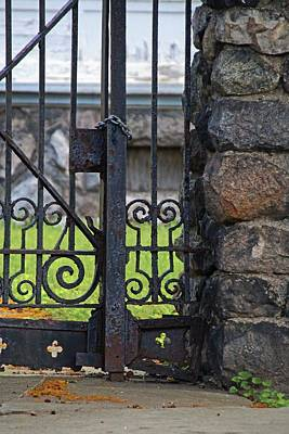 Photograph - Old West End Edward D Libbey House's Gate II- Vertical by Michiale Schneider