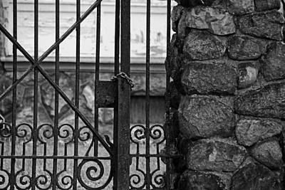 Photograph - Old West End Edward D Libbey House's Gate by Michiale Schneider
