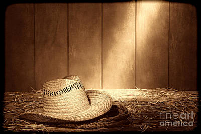 Photograph - Old West Farmer Hat by American West Legend By Olivier Le Queinec