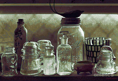 Photograph - old west impressionism - Glass Ware VII by Sharon Hudson