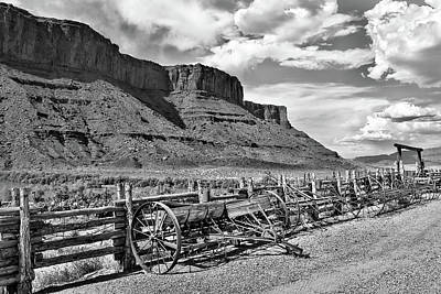 Photograph - Old West Scene, Western Photos, Utah Landscape, Utah Art by Gregory Ballos