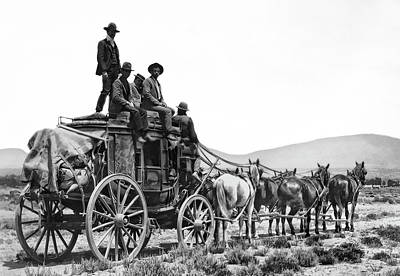 Old West Stagecoach C. 1880 Art Print