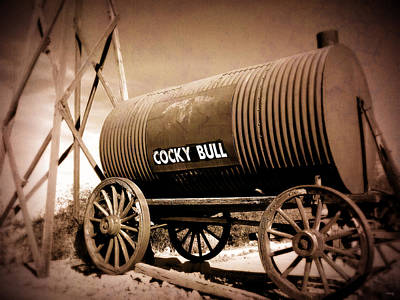 Photograph - Old West Tanker - Cocky Bull Steakhouse by Glenn McCarthy Art and Photography