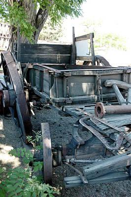 Silver Photograph - Old West Wagon Train Down by LeeAnn McLaneGoetz McLaneGoetzStudioLLCcom