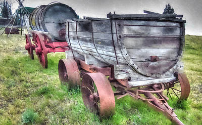 Photograph - Old West Wagons by Thom Zehrfeld
