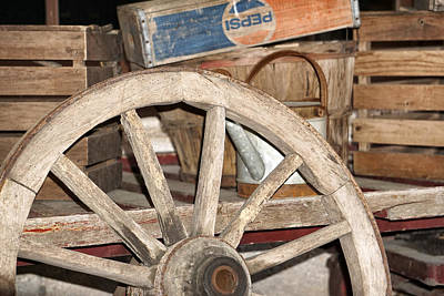 Pepsi Can Photograph - Old Wheel by Dennis Dugan