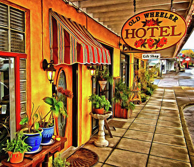 Photograph - Old Wheeler Hotel by Thom Zehrfeld