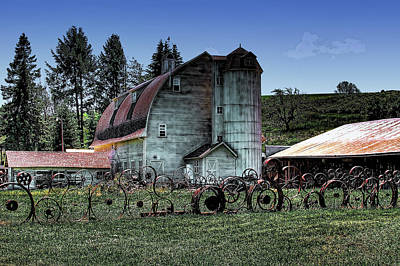 Photograph - Old Wheels At The Barn by David Patterson