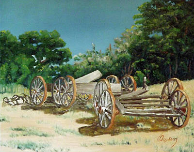 Painting - Old Wheels by Carl Owen