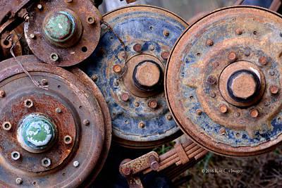 Old Wheels, Circles And Bolts Art Print