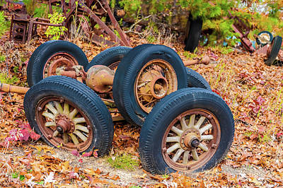 Photograph - Old Wheels -  by Louis Dallara