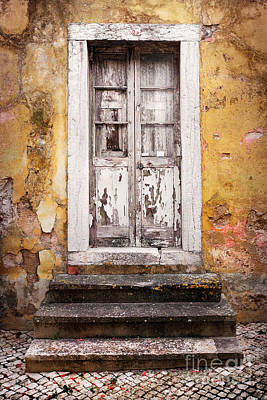 Vandalize Photograph - Old White Door by Carlos Caetano