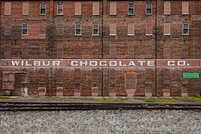 Photograph - Old Wilbur Chocolate Factory Building  -  Wilburchocolatebrick172920 by Frank J Benz