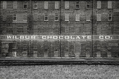 Photograph - Old Wilbur Chocolate Factory Building  -  Wilburchocolatebrickblkwhi172920 by Frank J Benz