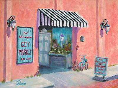 Painting - Old Wilmington City Market  by Pamela Poole
