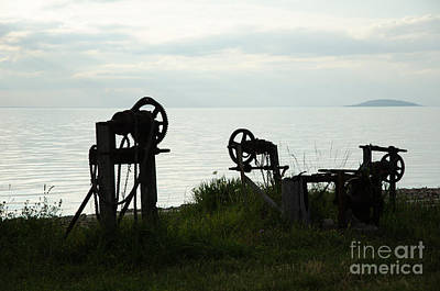 Photograph - Old Winch Silhouettes by Kennerth and Birgitta Kullman