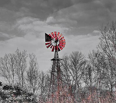 Old Wind Mill Art Print by Robert Pearson