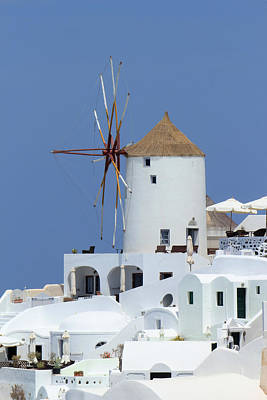 Photograph - Old Windmill At Oia, Santorini, Greece by Elenarts - Elena Duvernay photo