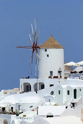 Claude Monet - Old windmill at Oia, Santorini, Greece by Elenarts - Elena Duvernay photo