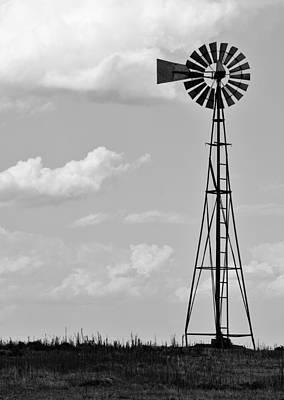 Wind Photograph - Old Windmill II by Ricky Barnard