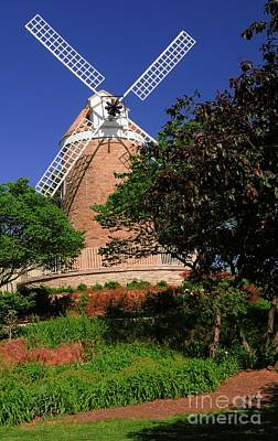 Old Windmill Art Print by Kathleen Struckle