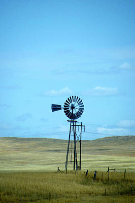 Old Windmill On The Ranch Dempster Usa Art Print by Thomas Woolworth