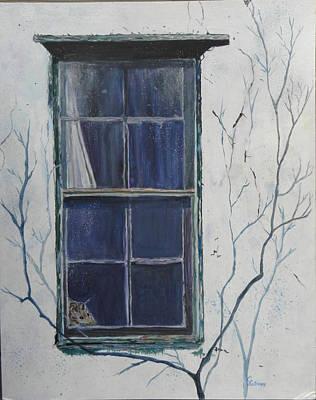 Old Window 2 Art Print by Christine Lathrop