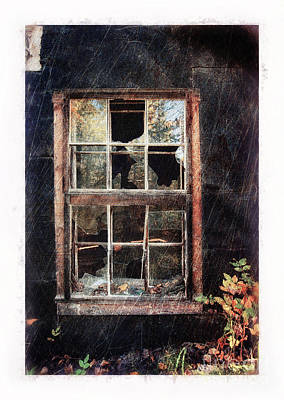 Old Window 7 Art Print by Priska Wettstein
