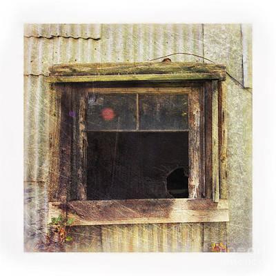 Window Reflection Photograph - Old Window 8 by Priska Wettstein