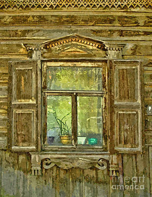 Mixed Media - Old Window In Siberia by Olga Hamilton