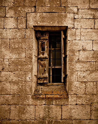 Photograph - Guzelyurt, Turkey - Old Window by Mark Forte