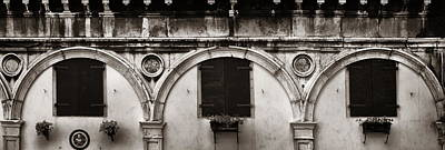 Photograph - Old Window Panorama by Songquan Deng